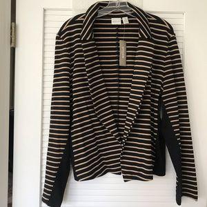 CHICO'S Zenergy Striped Jacket NWT!